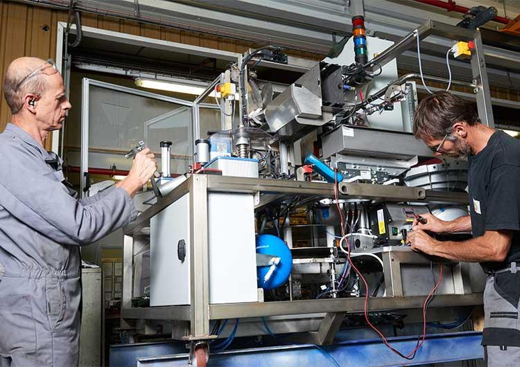 TMP Industrie s'est dotée d'un service et d'une équipe Maintenance et Automatisme